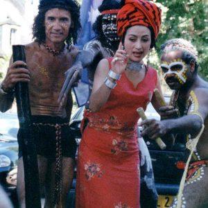 Amitié des Peuples - Bugarrigarra d'Australie, et Was du Yunnan, à Montignac (24), festival 2000