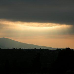 Contre-jour, La Vialasse, Mt Lozère