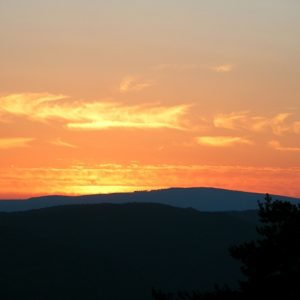 coucher de soleil, vers Le Massegros - Lozère