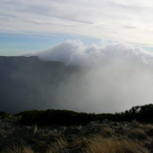 """montée de nuages, """"Calles de Combe Crose"""" (Mt Aigoual - flanc sud)"""
