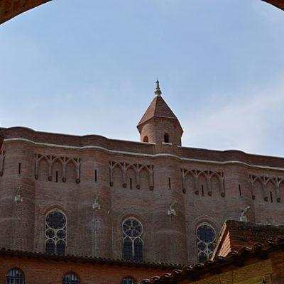 coté nord de la cathédrale Sainte-Cécile d'Albi