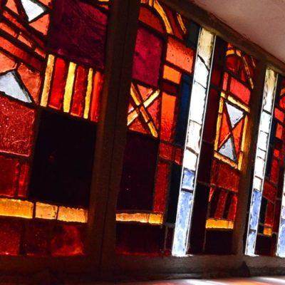 vitrail de la La Trappe de Notre-Dame-des-Neiges
