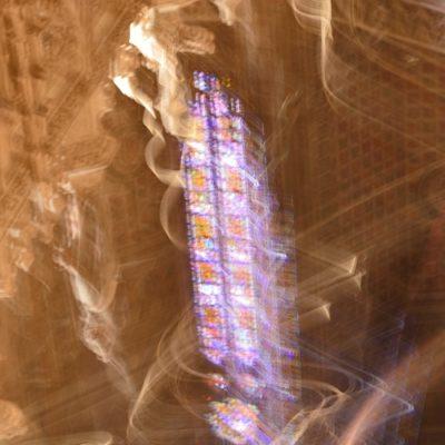 flouté -vitrail du cœur de la Cathédrale Sainte-Cécile d'Albi